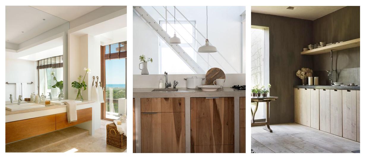 Imagenes De Muebles De Baño De Obra:las dos imágenes de la izquierda, microcemento para muebles de obra