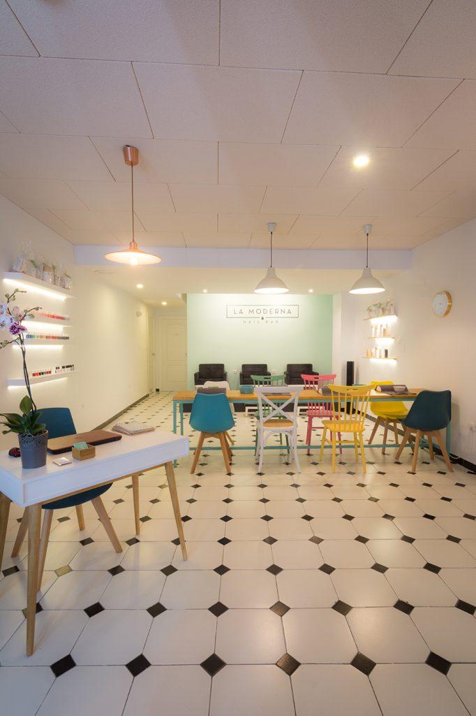 moderna nailbar arze arquitectura interiorismo interior proyecto local Alicante diseño