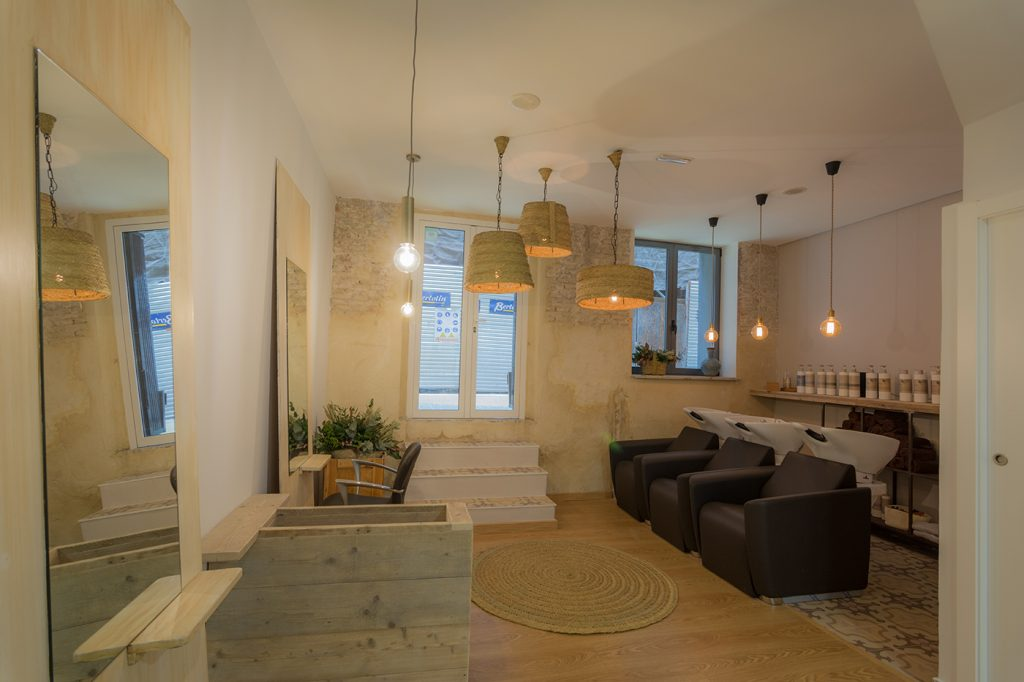 Peluquería, Alicante, Arze, arquitectura, interiorismo, nórdico, mediterráneo, esparto, iluminación, orgánico, reforma, mobiliario, decoración, proyecto, reforma