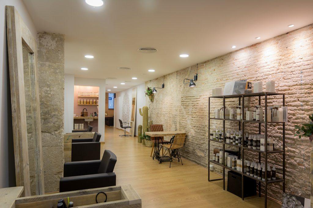Peluquería, Alicante, Arze, arquitectura, interiorismo, nórdico, mediterráneo, esparto, iluminación, orgánico, reforma, mobiliario, decoración, proyecto, reforma, ladrillo