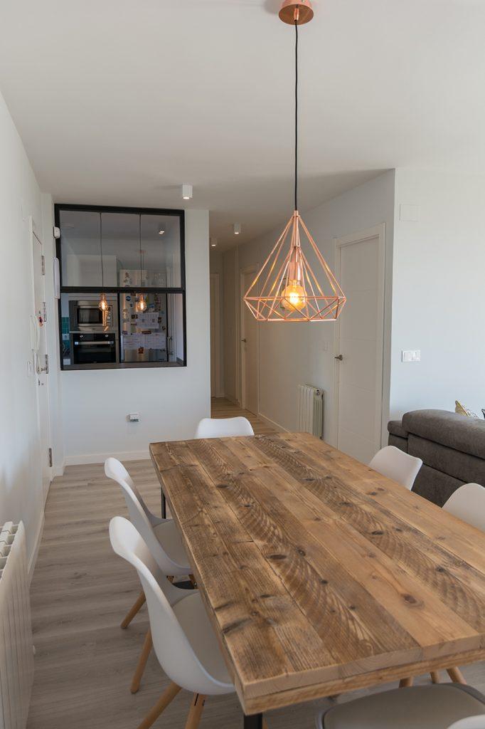 Cocina, Salón, proyecto, reforma, Alicante, San Juan, Arze, madera reciclada, diseño nórdico